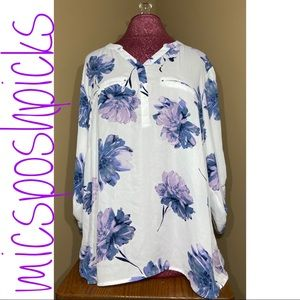 Maurice's Sheer Floral Blouse